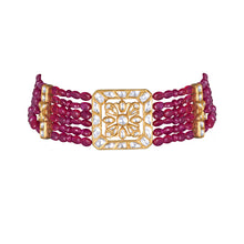 Load image into Gallery viewer, Uncut Diamond and Ruby Choker