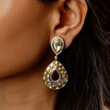 Load image into Gallery viewer, Uncut Diamond and Full Cut Diamond Earrings