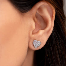 Load image into Gallery viewer, Big Heart Diamond Studs