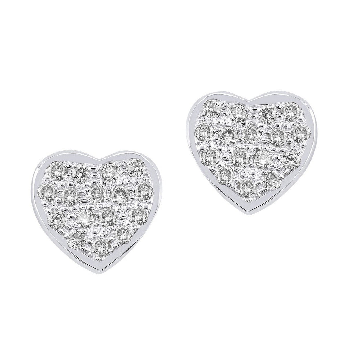 Big Heart Diamond Studs