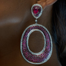 Load image into Gallery viewer, Ruby and Diamond Earrings