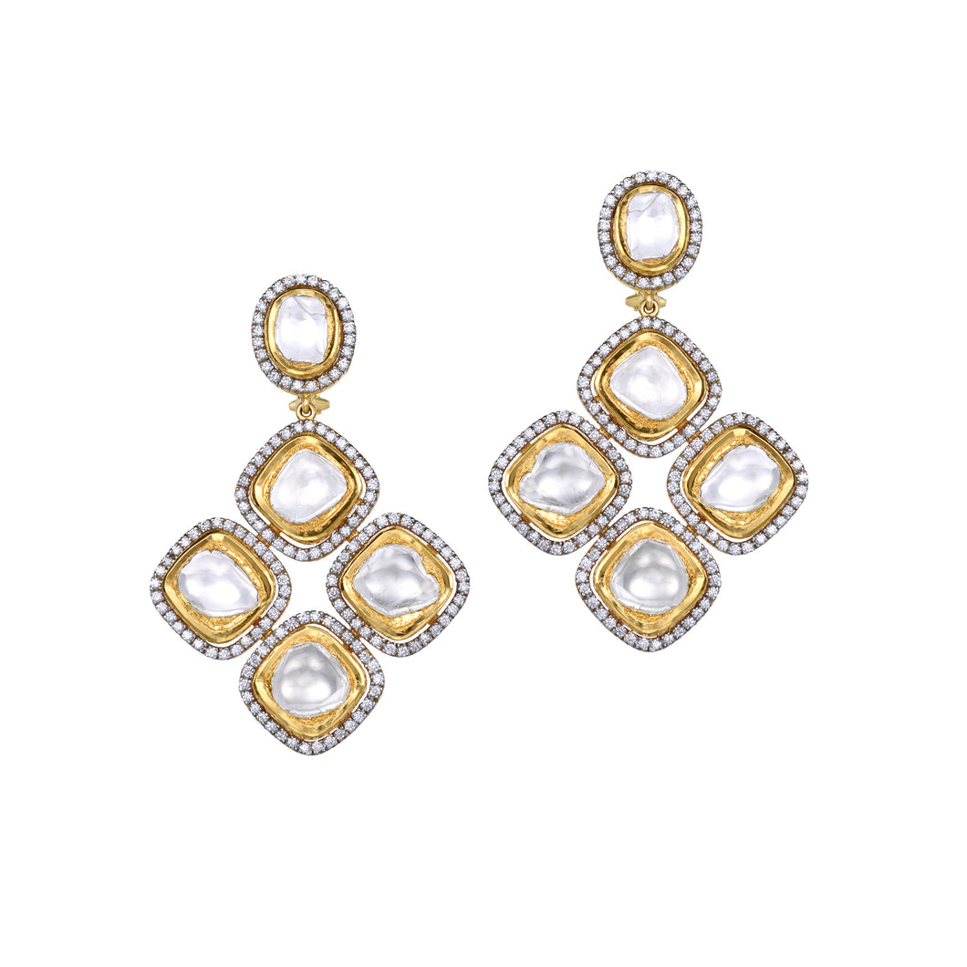 Uncut Diamond Earrings