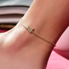 Load image into Gallery viewer, Yellow Sapphire Butterfly Anklet