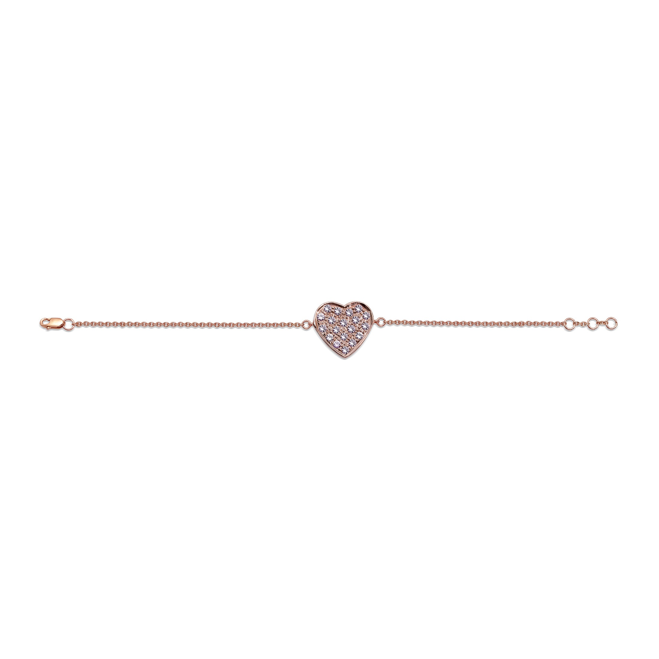 Pink Sapphire Heart Anklet