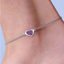 Load image into Gallery viewer, Ruby Heart Anklet