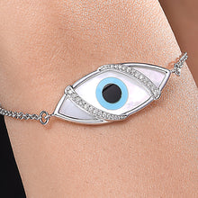 Load image into Gallery viewer, Large Marquise Evil Eye Diamond Chain Bracelet