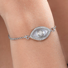 Load image into Gallery viewer, Medium Marquise Evil Eye Diamond Chain Bracelet