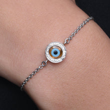 Load image into Gallery viewer, Small Round Tiger Eye Diamond Chain Bracelet