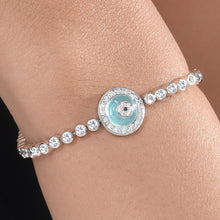 Load image into Gallery viewer, Blue Onyx Donut Bracelet