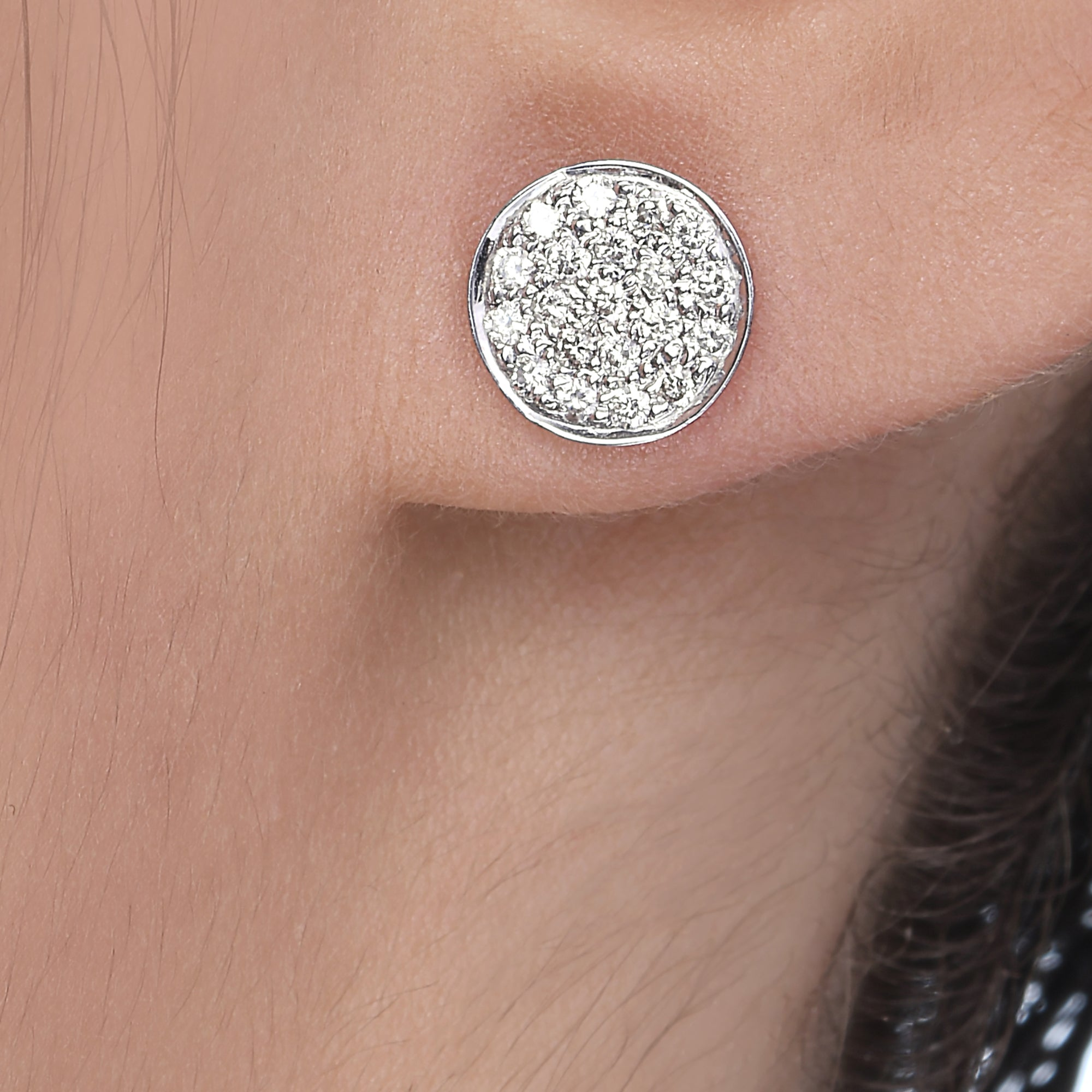 Big Round Diamond Studs