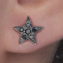 Load image into Gallery viewer, Big Star Black Diamond Studs