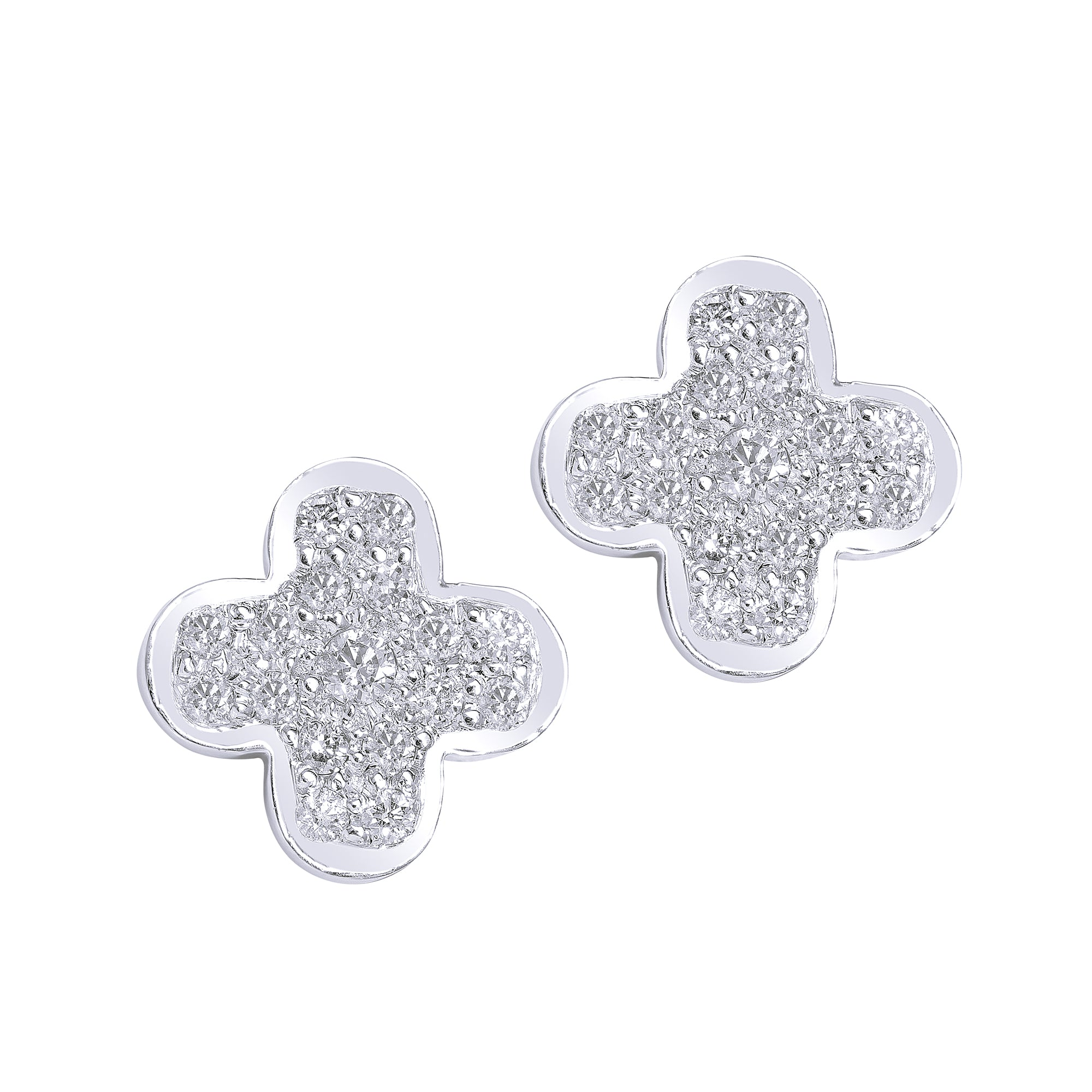 Big Clover Diamond Studs