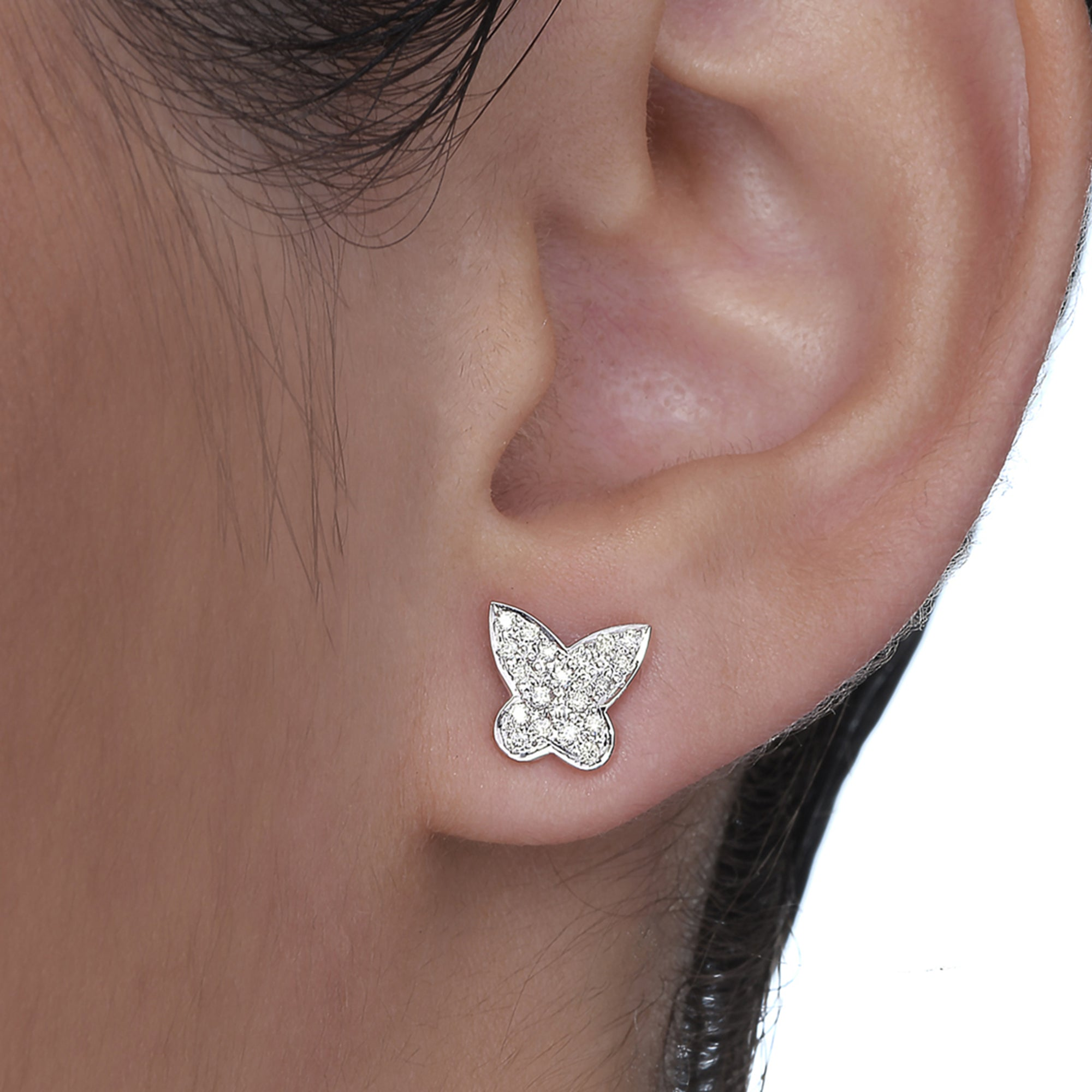 Big Butterfly Diamond Studs