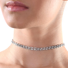 Load image into Gallery viewer, Double Line Diamond Choker