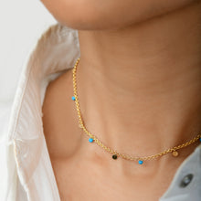 Load image into Gallery viewer, Gold Collar Turquoise Necklace