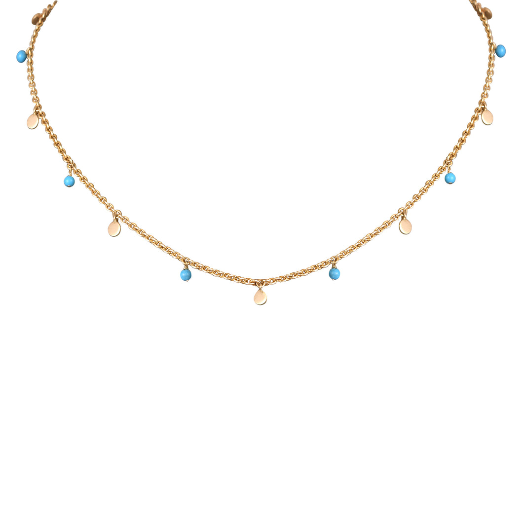 Gold Collar Turquoise Necklace