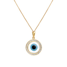 Load image into Gallery viewer, Round Evil Eye Diamond Chain Pendant
