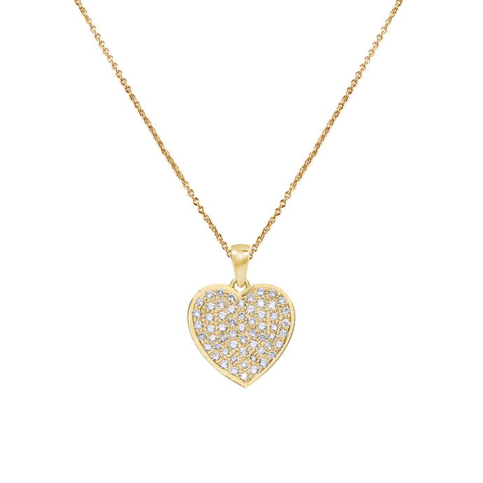 Heart Diamond Chain Pendant
