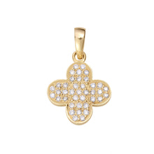 Load image into Gallery viewer, Small Clover Diamond Chain Pendant