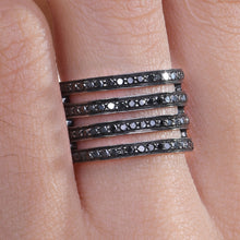 Load image into Gallery viewer, Black Diamond Stackable Ring