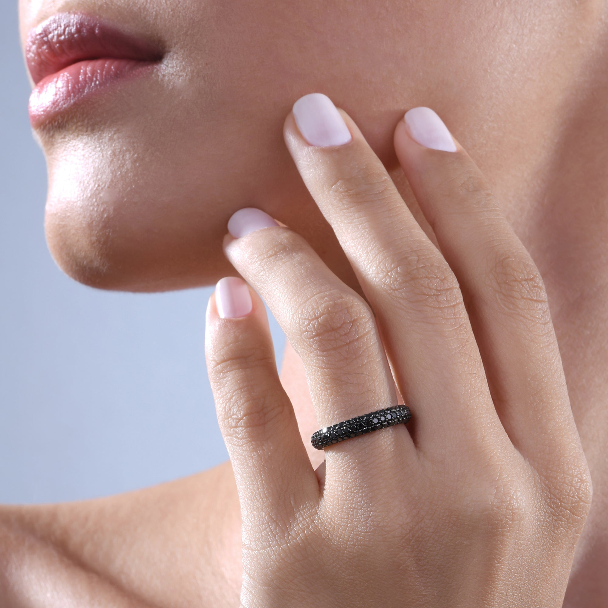Black Diamond Stackable Classic Ring