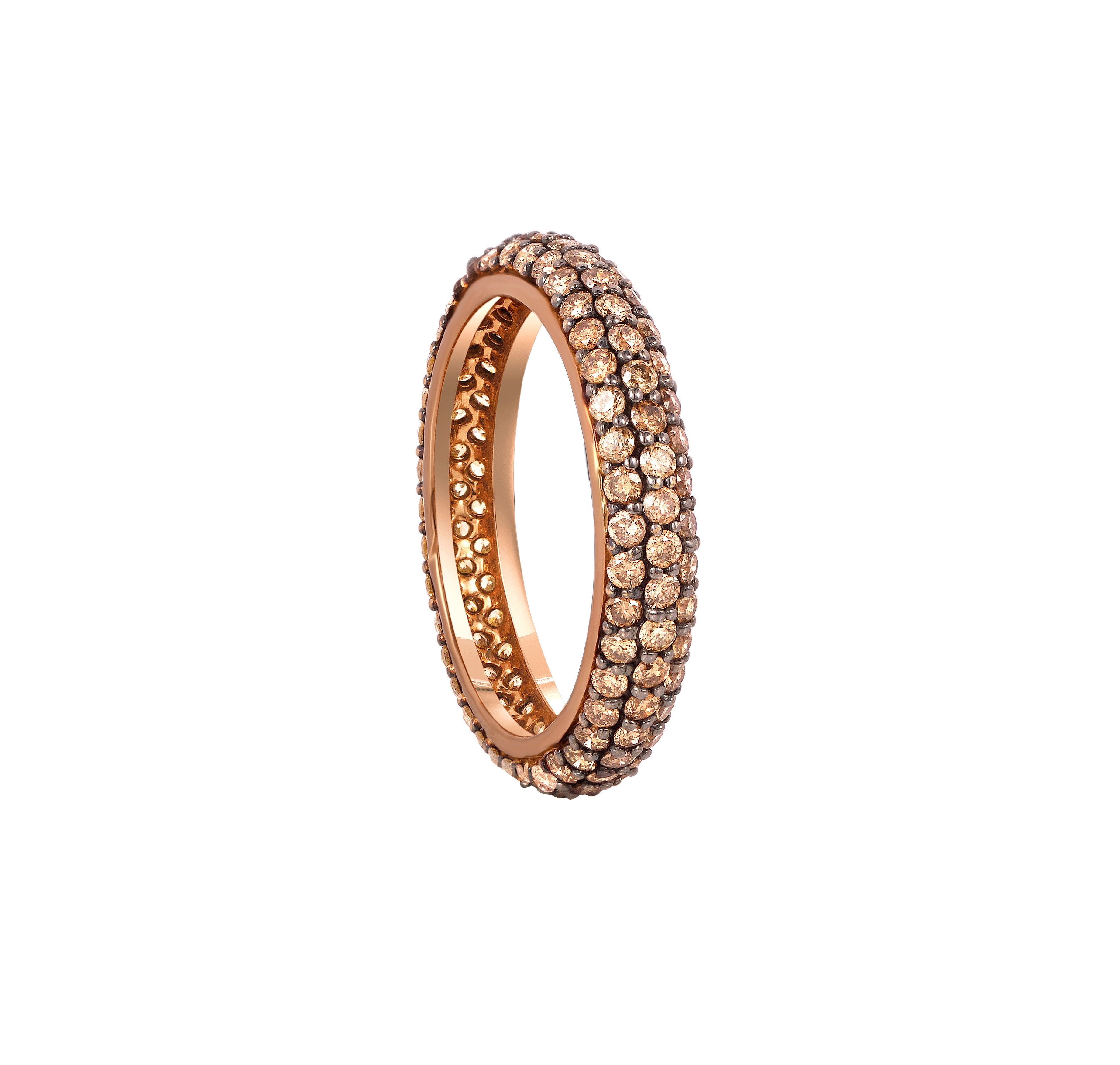 Coffee Diamond Stackable Classic Ring