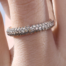 Load image into Gallery viewer, Coffee Diamond Stackable Classic Ring