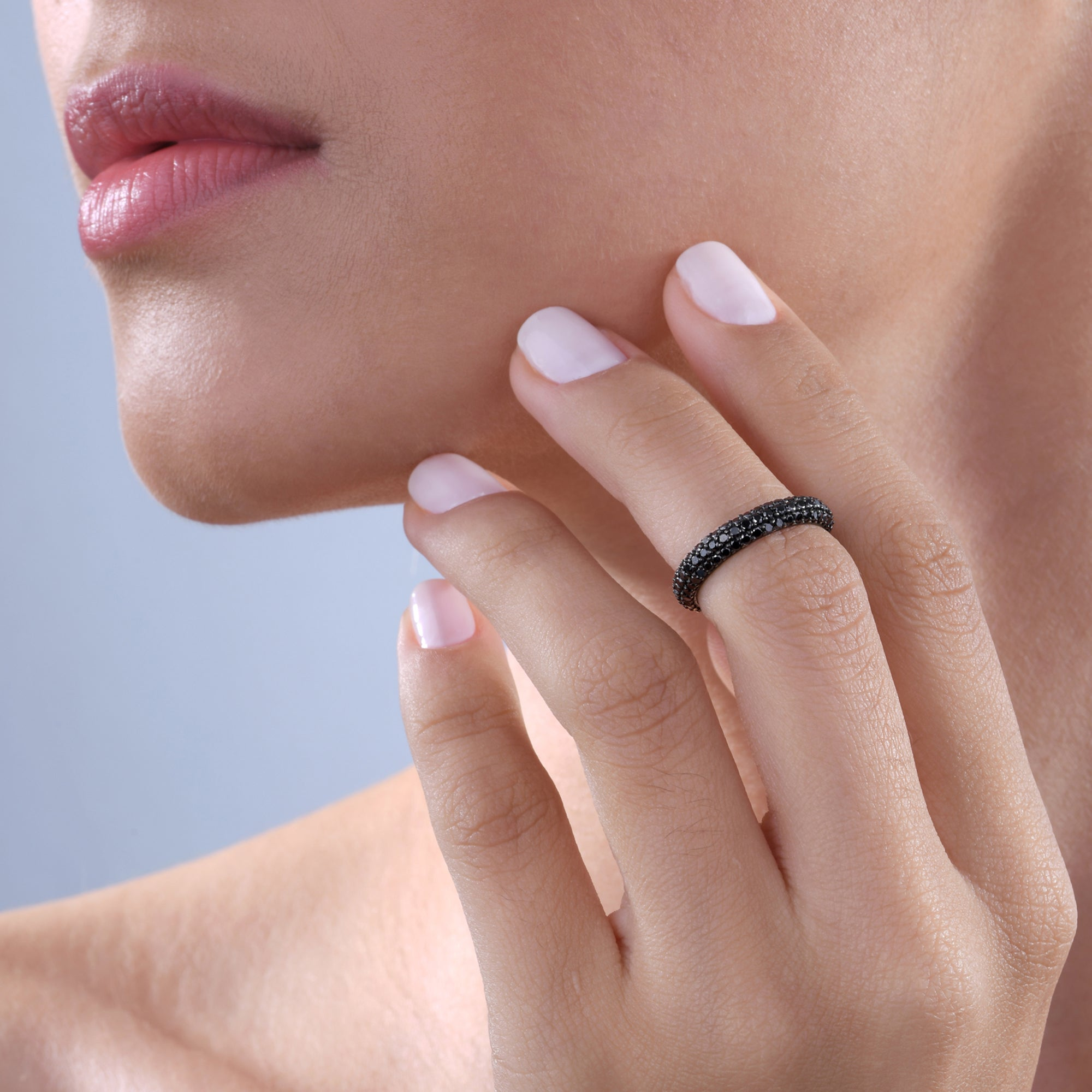 Black Diamond Stackable Classic Midi Ring
