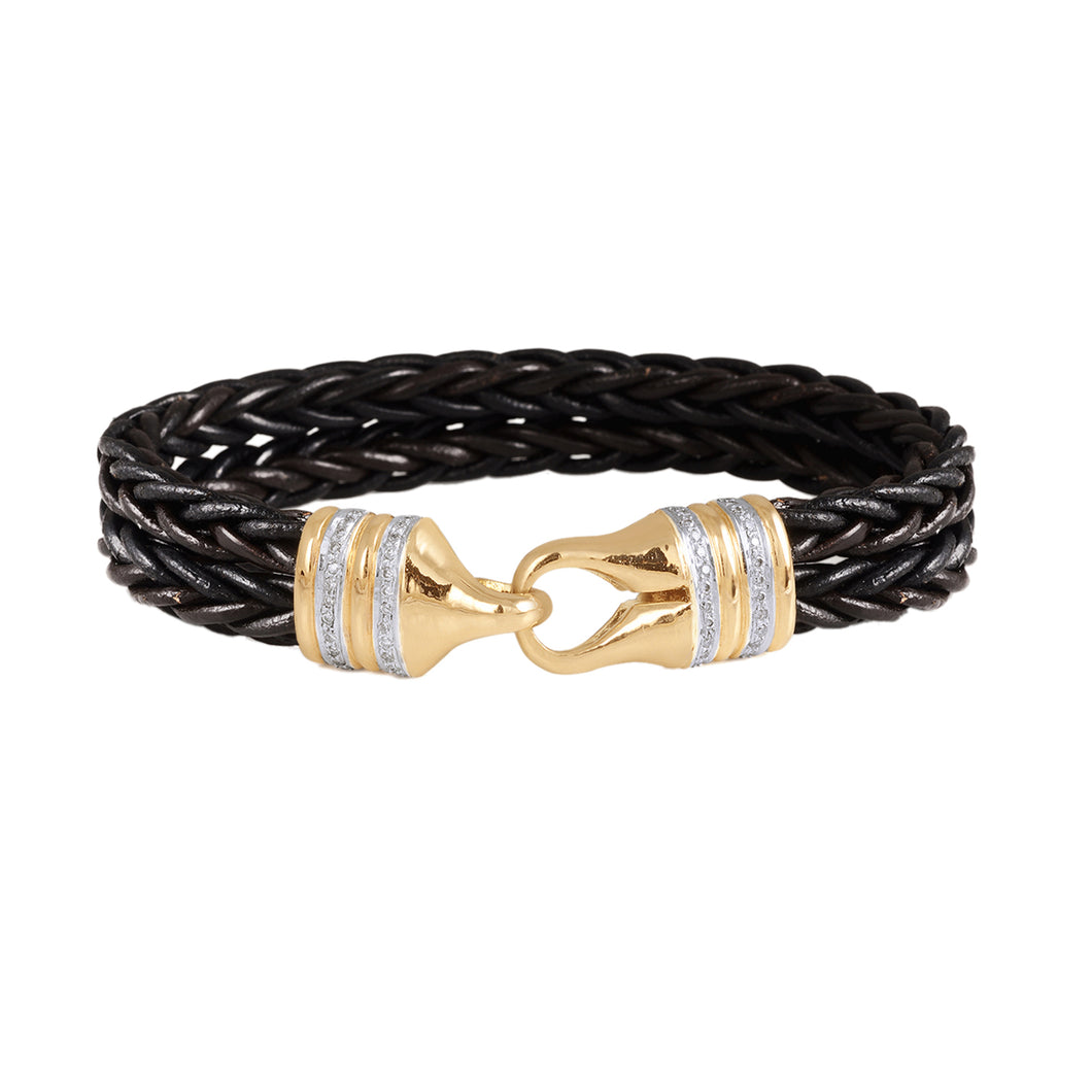 Diamond Leather Bracelet