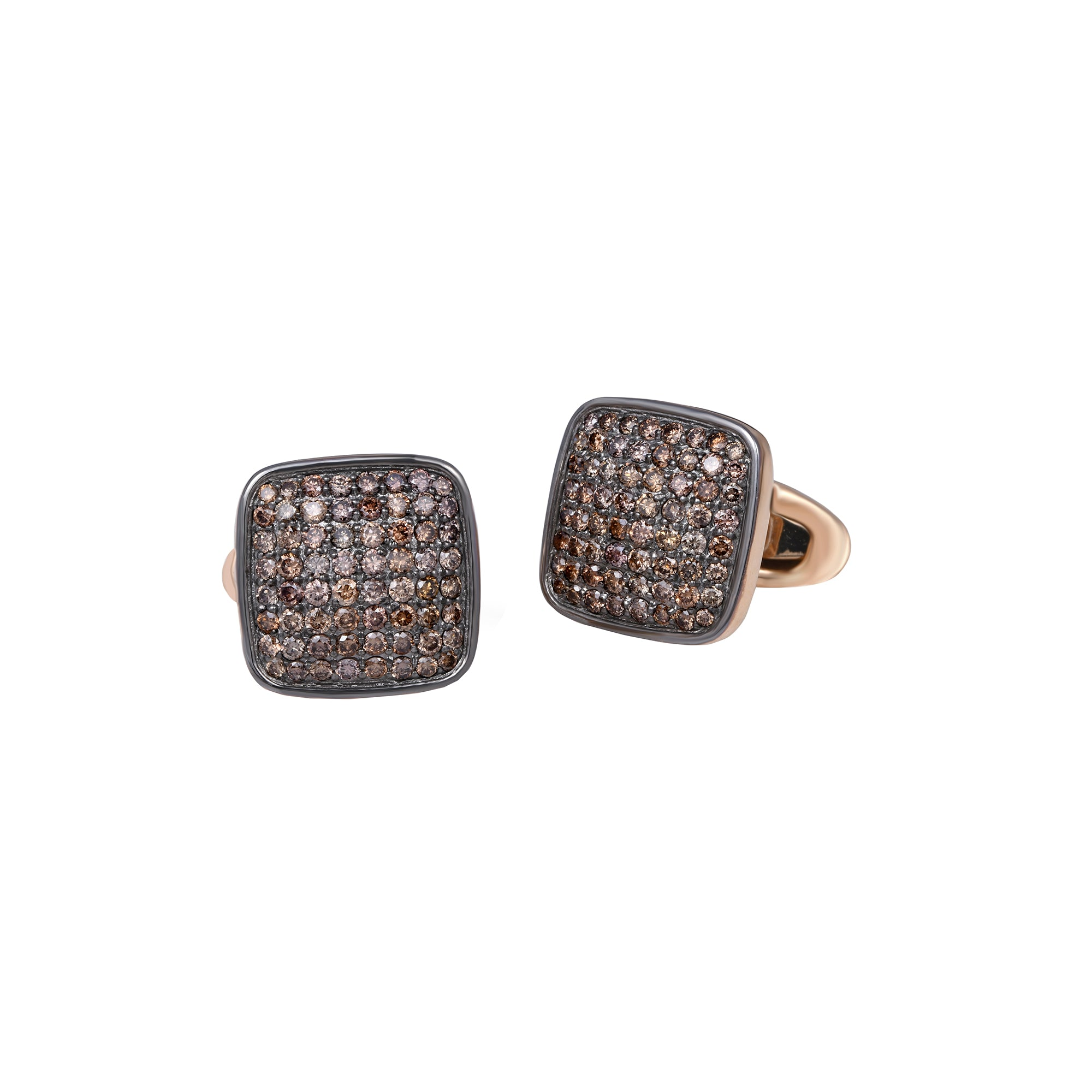 Coffee Diamond Cufflinks