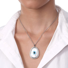 Load image into Gallery viewer, Oblong Evil Eye Diamond Pendant