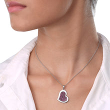 Load image into Gallery viewer, Heart Ruby Chain Pendant