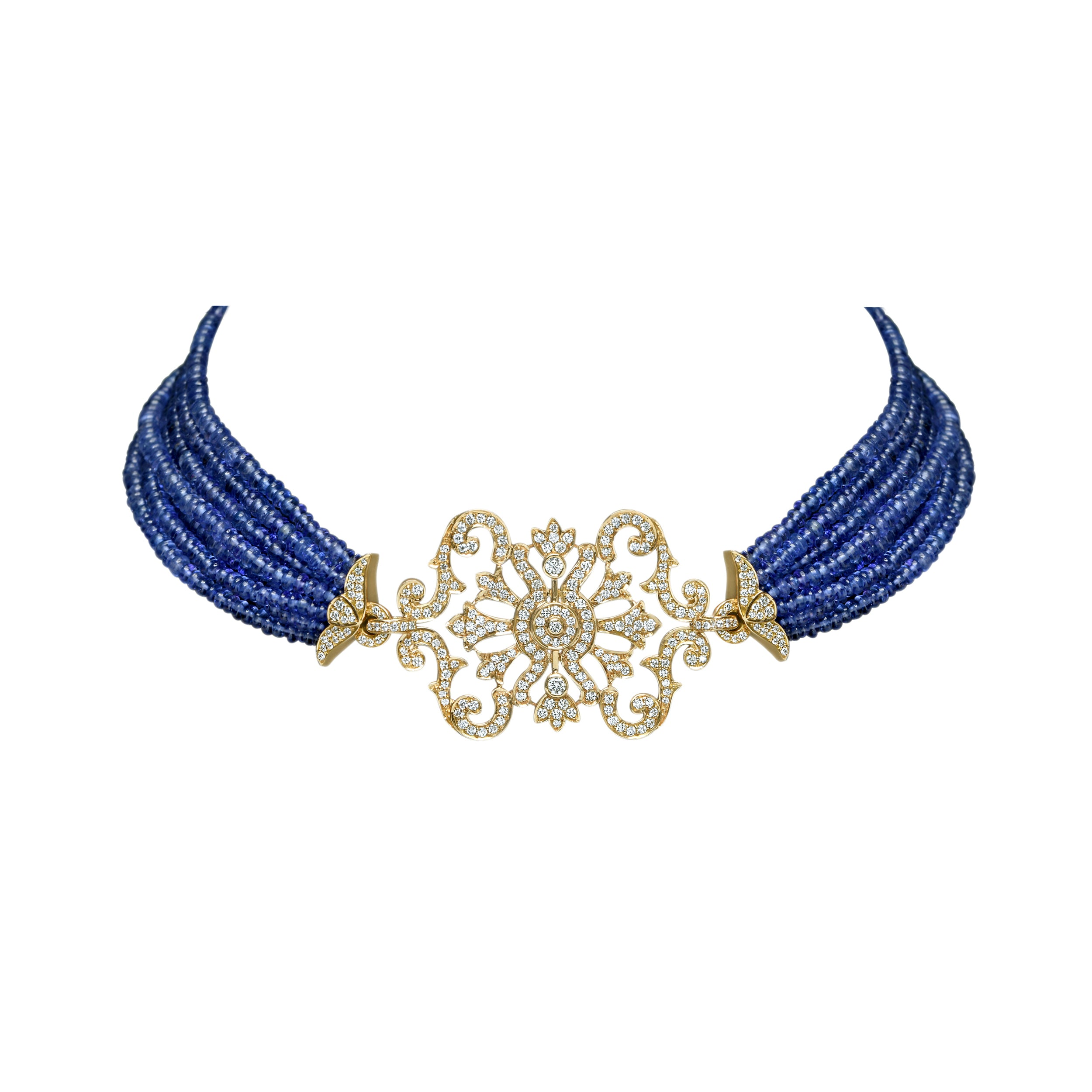 Diamond and Tanzanite Choker