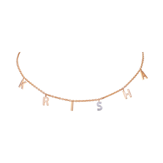 Collar Name Diamond Necklace