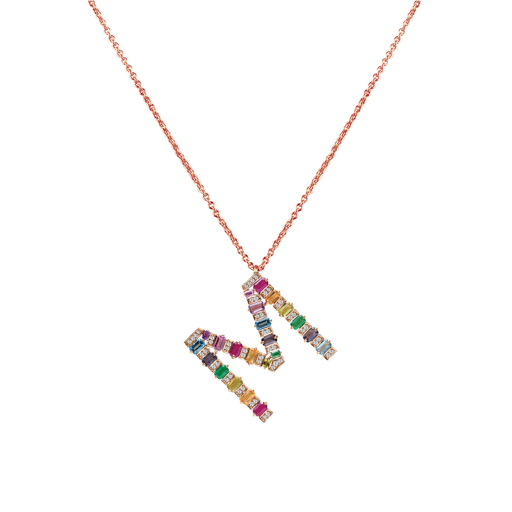 Personalised Multi-coloured Pendant