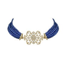 Load image into Gallery viewer, Diamond and Tanzanite Choker