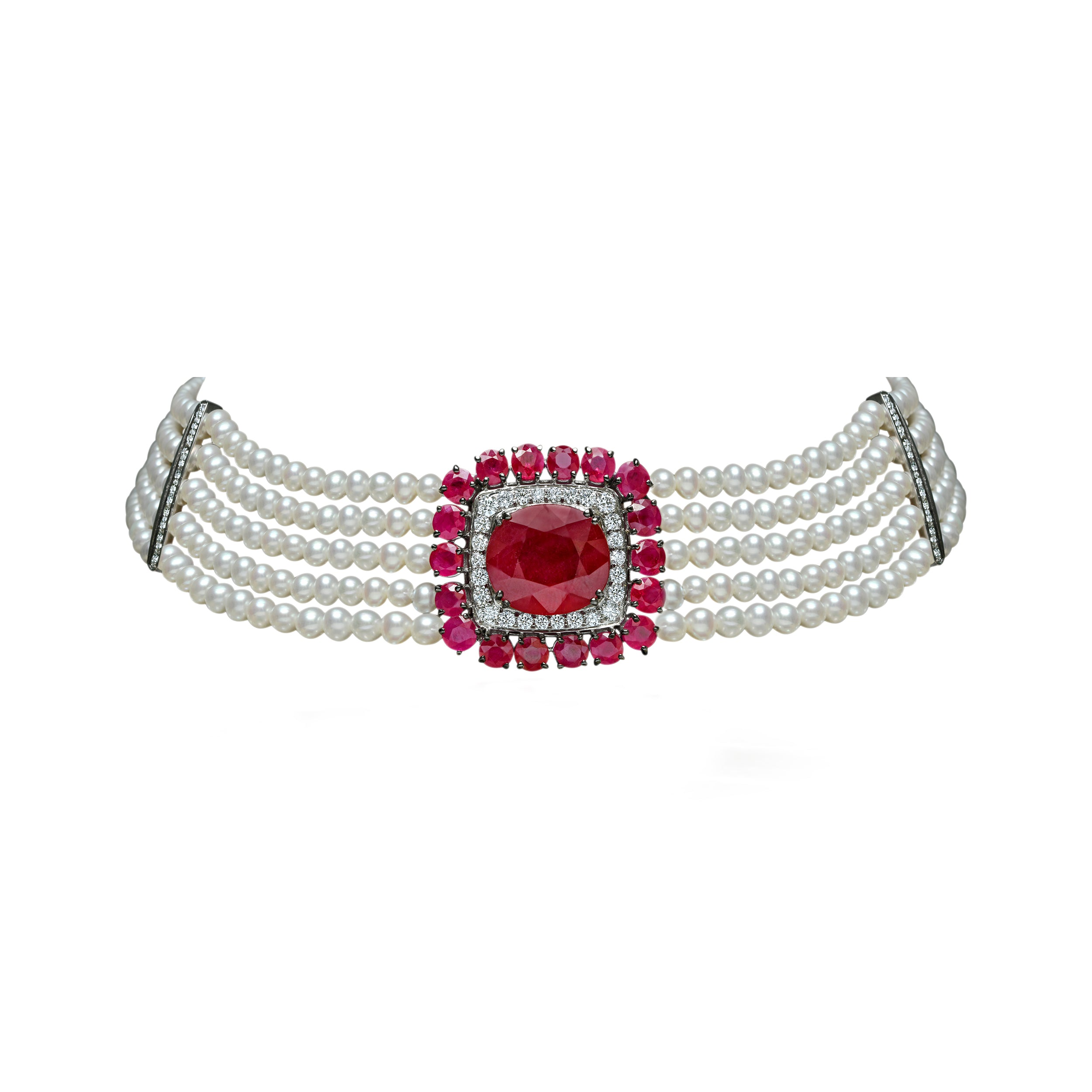 Ruby and Pearl Choker