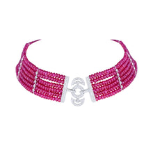 Load image into Gallery viewer, Diamond and Ruby Choker