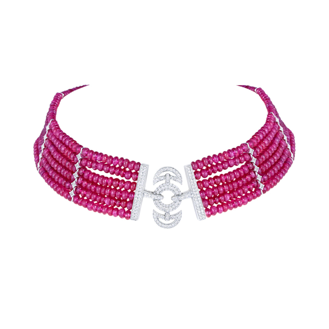 Diamond and Ruby Choker