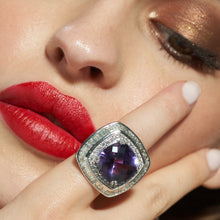 Load image into Gallery viewer, Amethyst and Diamond Ring