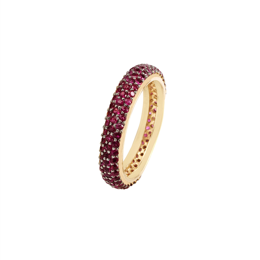 Ruby Stackable Classic Ring