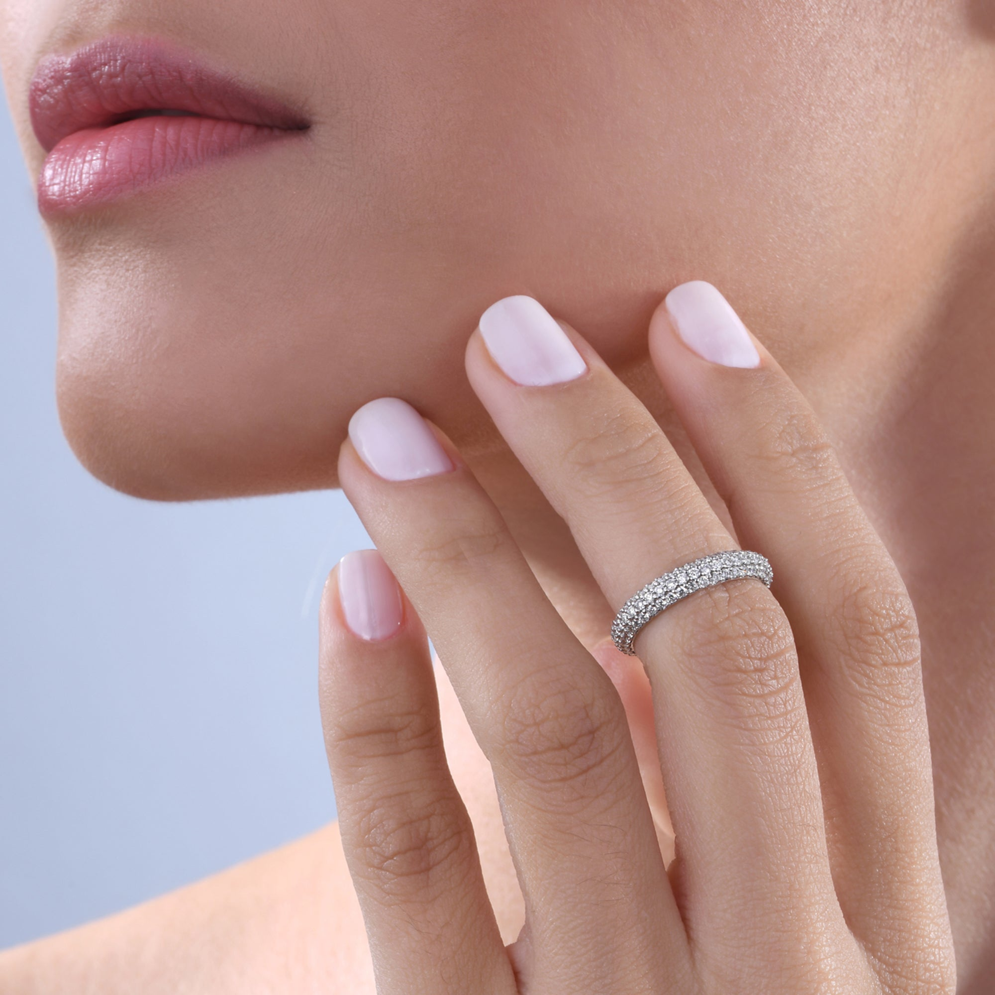 Diamond Stackable Classic Midi Ring