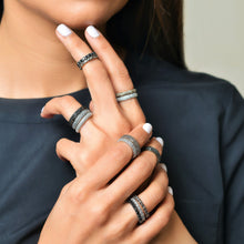 Load image into Gallery viewer, Diamond Stackable Classic Midi Ring