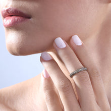 Load image into Gallery viewer, Coffee Diamond Stackable Classic Midi Ring