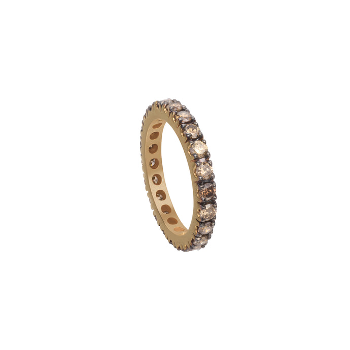 Coffee Diamond Stackable Eternity Ring