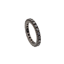 Load image into Gallery viewer, Black Diamond Stackable Eternity Ring
