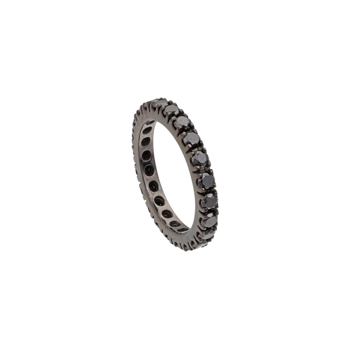 Black Diamond Stackable Eternity Ring