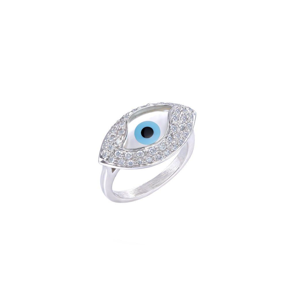 Small Marquise Evil Eye Diamond Ring