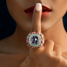 Load image into Gallery viewer, Kunzite and Pink Sapphire Ring