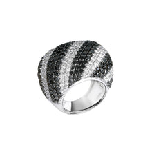 Load image into Gallery viewer, Black and White Diamond Ring